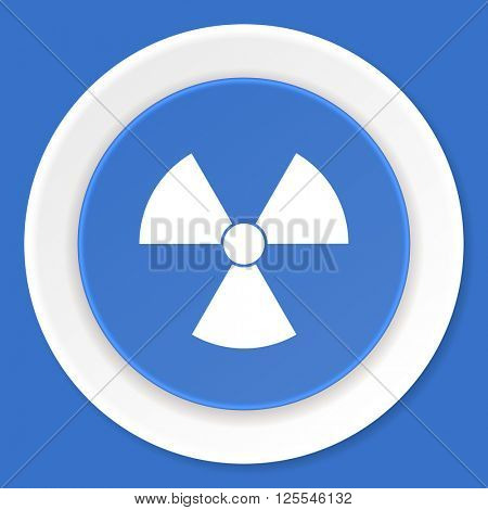 radiation blue flat design modern web icon