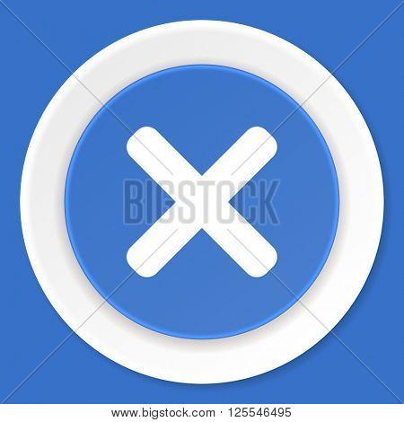cancel blue flat design modern web icon