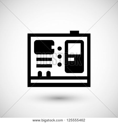 Electric generator icon isolated on grey. Vector illustration