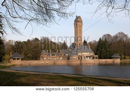 March 29 2014, Netherlands, Hoge Veluwe,Monumental building the Hunting lodge St. Hubertus designed by Berlage