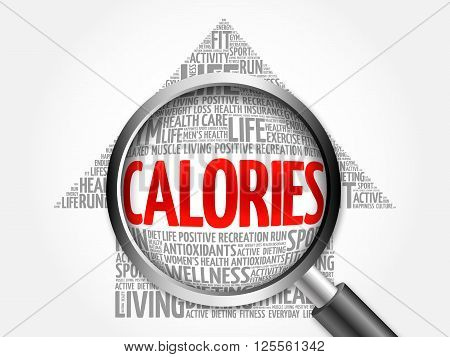 Calories Arrow Word Cloud