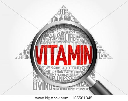 Vitamin Arrow Word Cloud