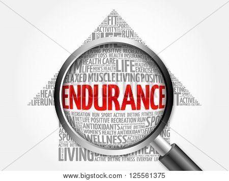 Endurance Arrow Word Cloud
