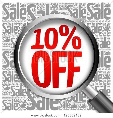 10% Off Sale Word Cloud