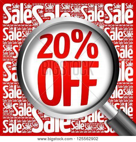 20% Off Sale Word Cloud