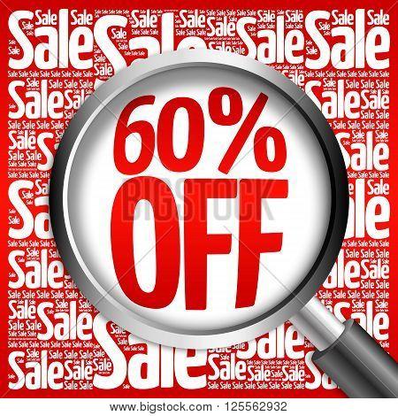 60% Off Sale Word Cloud