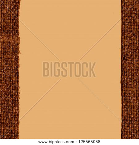 Textile linen fabric industry coffee canvas crisscross material country background