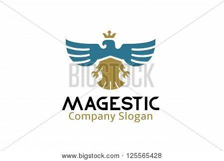Majestic Creative And Symbolic Logo Design Illustration