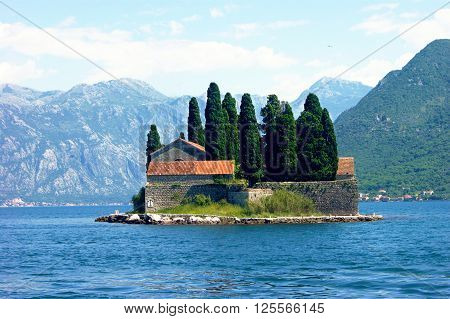 Island of St. George near Perast, Montenegro