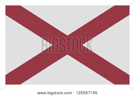 Alabama Flag White Dots