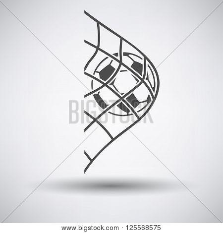 Soccer Ball In Gate Net Icon