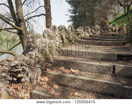 Ancient Stairway By The River