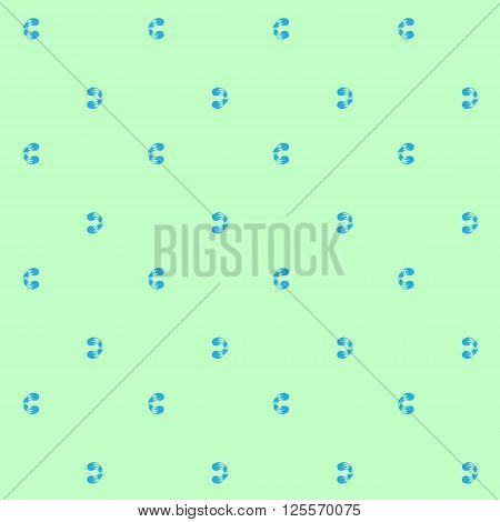 Seamless pattern of blue whorls curlicues on blue backgrownd