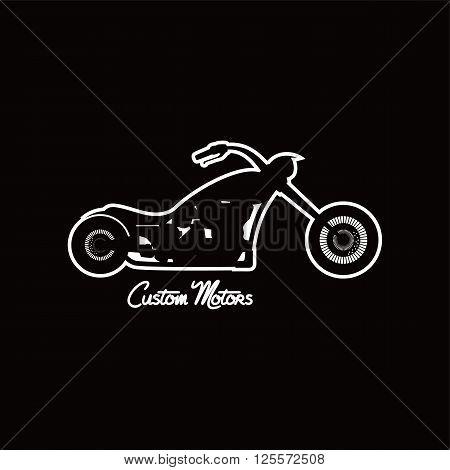 Custom Motorcycle Chopper Bike