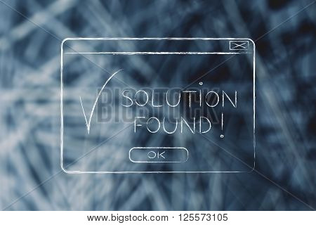 Pop-up With Text Solution Found