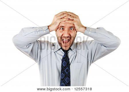 Businessman Screaming