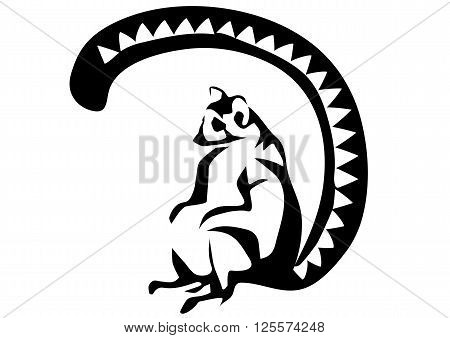 ring tailed lemur isolted on a white background