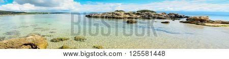 a panoramic view of Alghero shoreline Sardinia