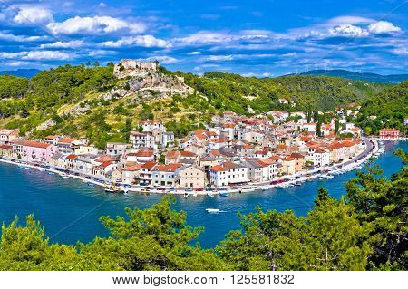 Novigrad Dalmatinski waterfront and bay view Dalmatia Croatia