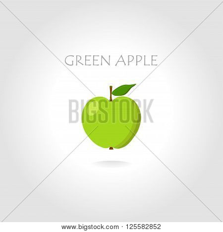 green apple vector illustration with text tittle