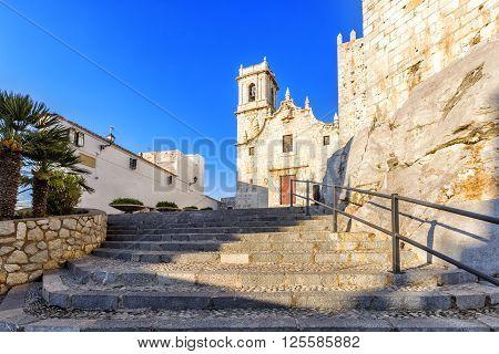 Church Of The Virgin Of Ermitana (1714) In Peniscola, Spain.