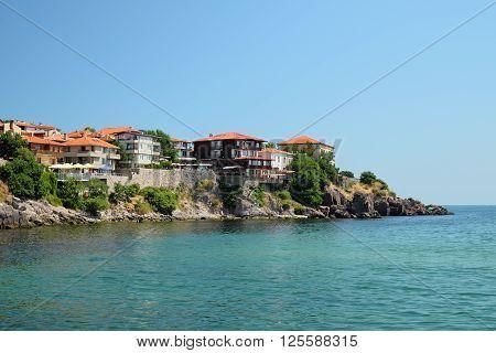 Seaside in old town of Sozopol Bulgaria