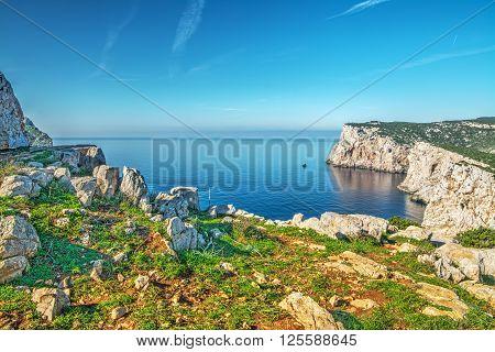 rocks and sea in Capo Caccia Sardinia
