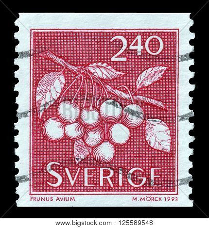 SWEDEN - CIRCA 1993 : Cancelled postage stamp printed by Sweden, that shows 'Fruit.