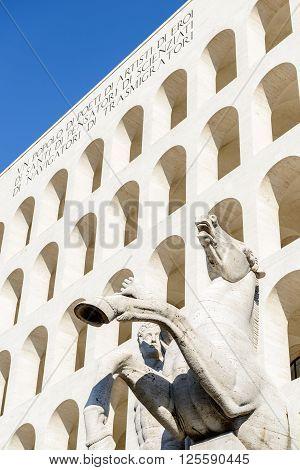 The Palazzo della Civiltà Italiana also known as the Palazzo della Civiltà del Lavoro or simply the Quadrato is an icon of Fascist architecture