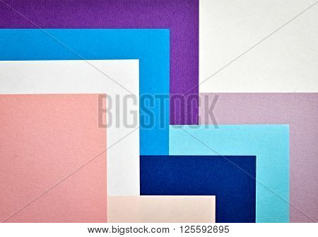 Abstract background with colored paper collage stairs
