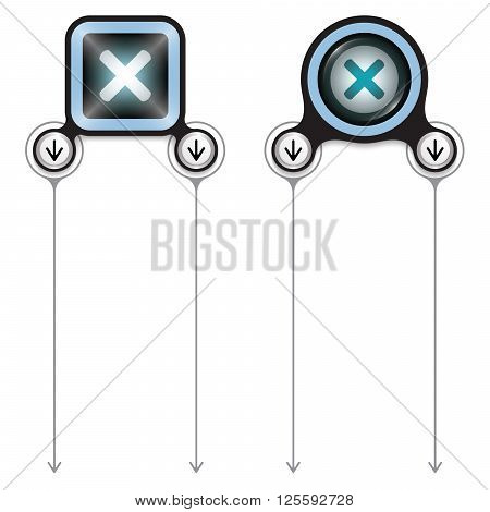 Two abstract frames for your text and multiplication symbol