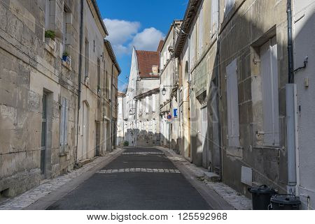 Old houses in french town Cognac. The town gives its name to one of the world's best-known types of brandy