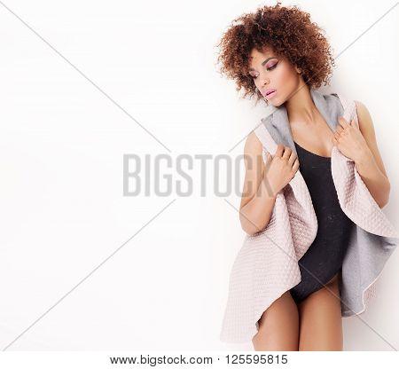Fashionable Girl Posing.