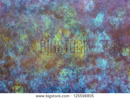 Abstract colorful metal texture