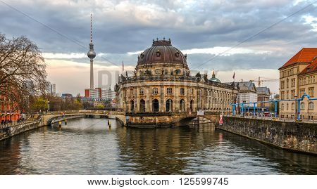 Museumsinsel in Berlin, Germany, at evening time