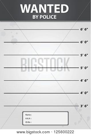 Vector stock of police mugshot line up criminal photo background