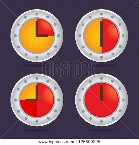 Collection of colorful time chronograph icon vector illustration