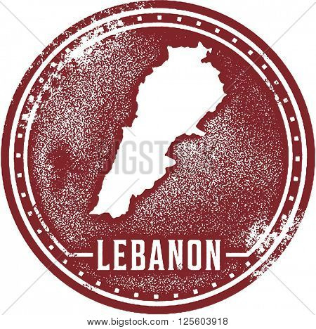 Lebanon Country Travel Stamp