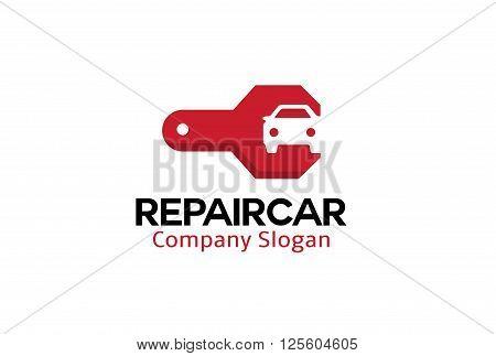 Repair Car Creative And Symbolic Logo Design Illustration