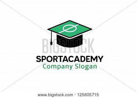 Sport Academy Creative And Symbolic Logo Design Illustration
