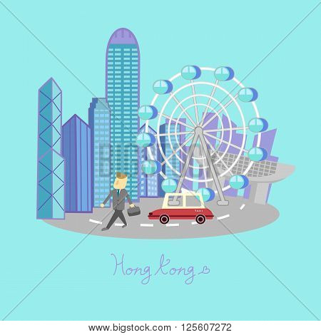 Hong Kong travel element - great for Hong Kong travel concept