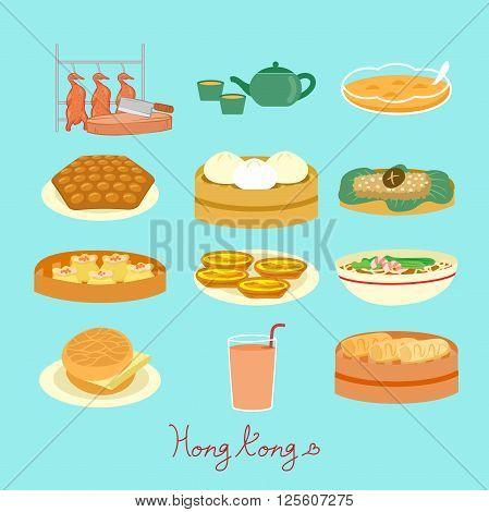 Hong Kong food element - great for Hong Kong travel concept