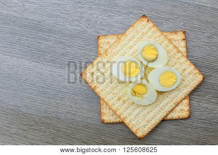 Pesach Still-life With  And Matzoh Jewish Passover Bread