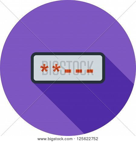 Password, login, screen icon vector image. Can also be used for security. Suitable for use on web apps, mobile apps and print media.