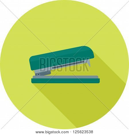 Stapler, office, bind icon vector image.Can also be used for stationery. Suitable for mobile apps, web apps and print media.