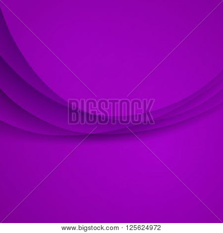 Purple vector Template Abstract background with curves lines and shadow.