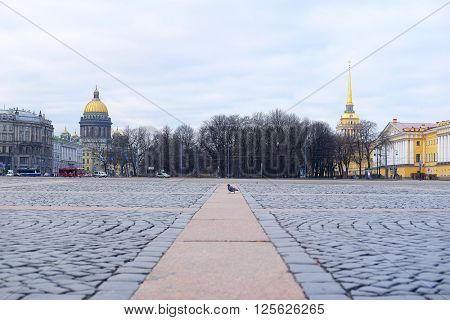 St. Petersburg, Russia -  March, 13, 2016: Veiw from Palace Squire in St. Petersburg, Russia.