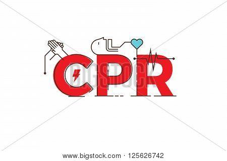 Cpr Word Design Illustration