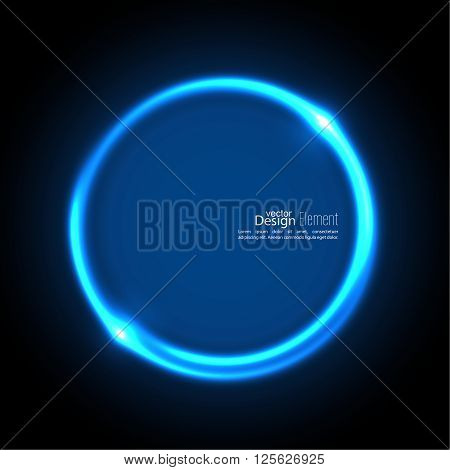 Abstract background with luminous swirling backdrop. Intersection curves. Glowing spiral. The energy flow tunnel. Vector. blue, cerulean, cobalt, indigo, sapphire, ultramarine