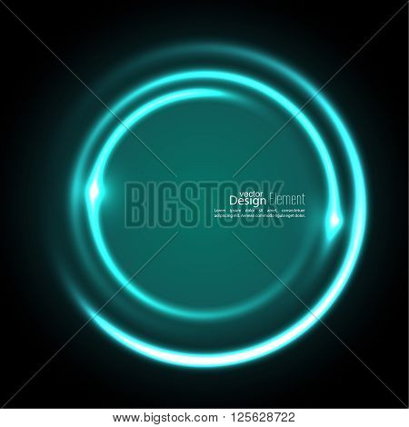 Abstract background with luminous swirling backdrop. Intersection curves. Glowing spiral. The energy flow tunnel. Vector. turquoise,  aquamarine, green,